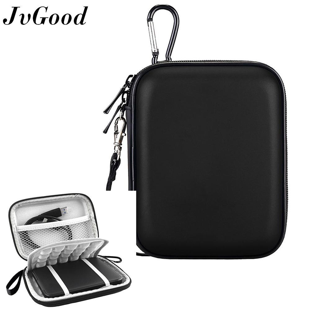 Jvgood Hard Shockproof Travel Storage Carrying Case Bag For Esensial Expansion Kabel Charger Wd My Passport Portable Eksternal Hard Drive, Hitam By Jvgood.