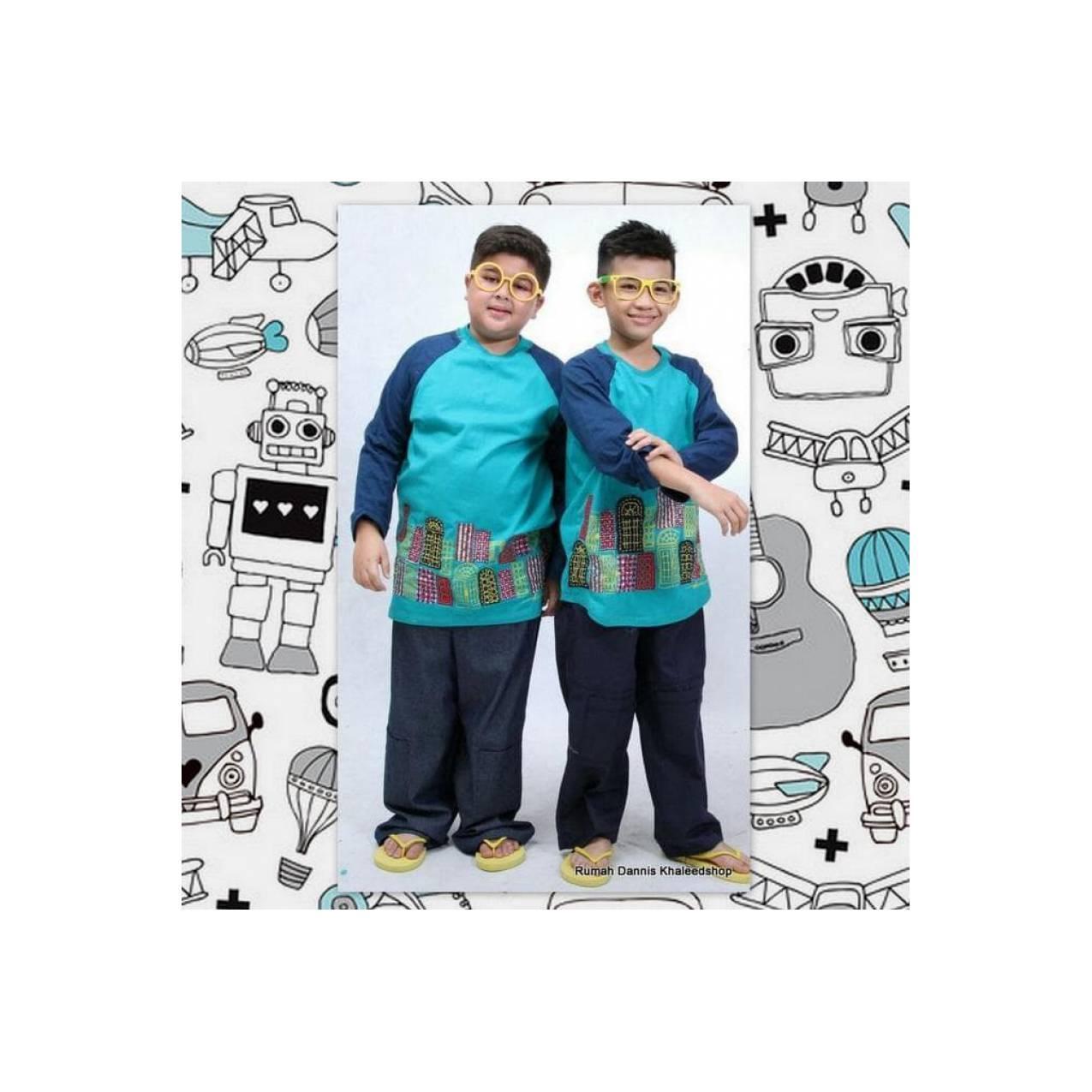 Promo Manis -- Baju Muslim Anak Dannis D'Lucky Doors Size 8 - L8J97
