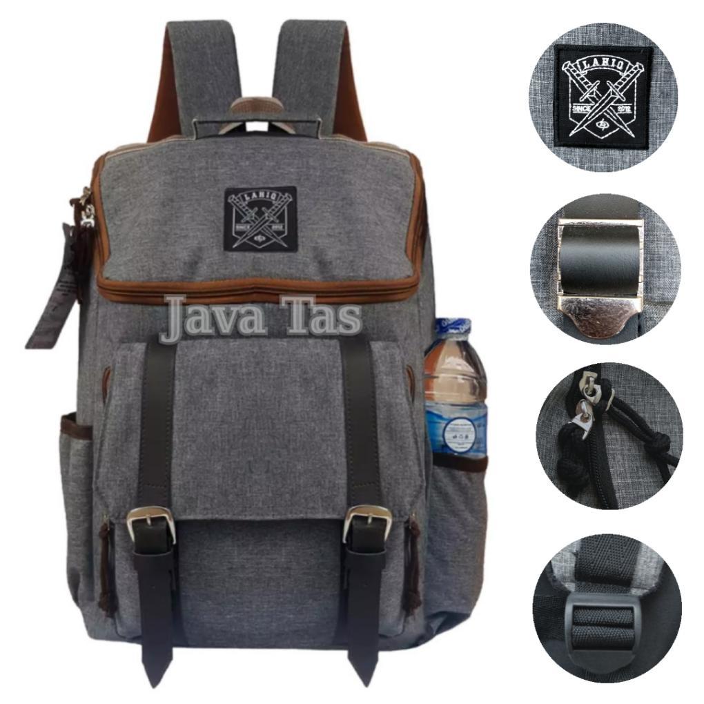 Java Tas Ransel Pria Tas Korea Tas Ransel Korea Tas Punggung Tas Laptop Tas Outdoor Tas Ransel Casual Movic Lahiq Gray