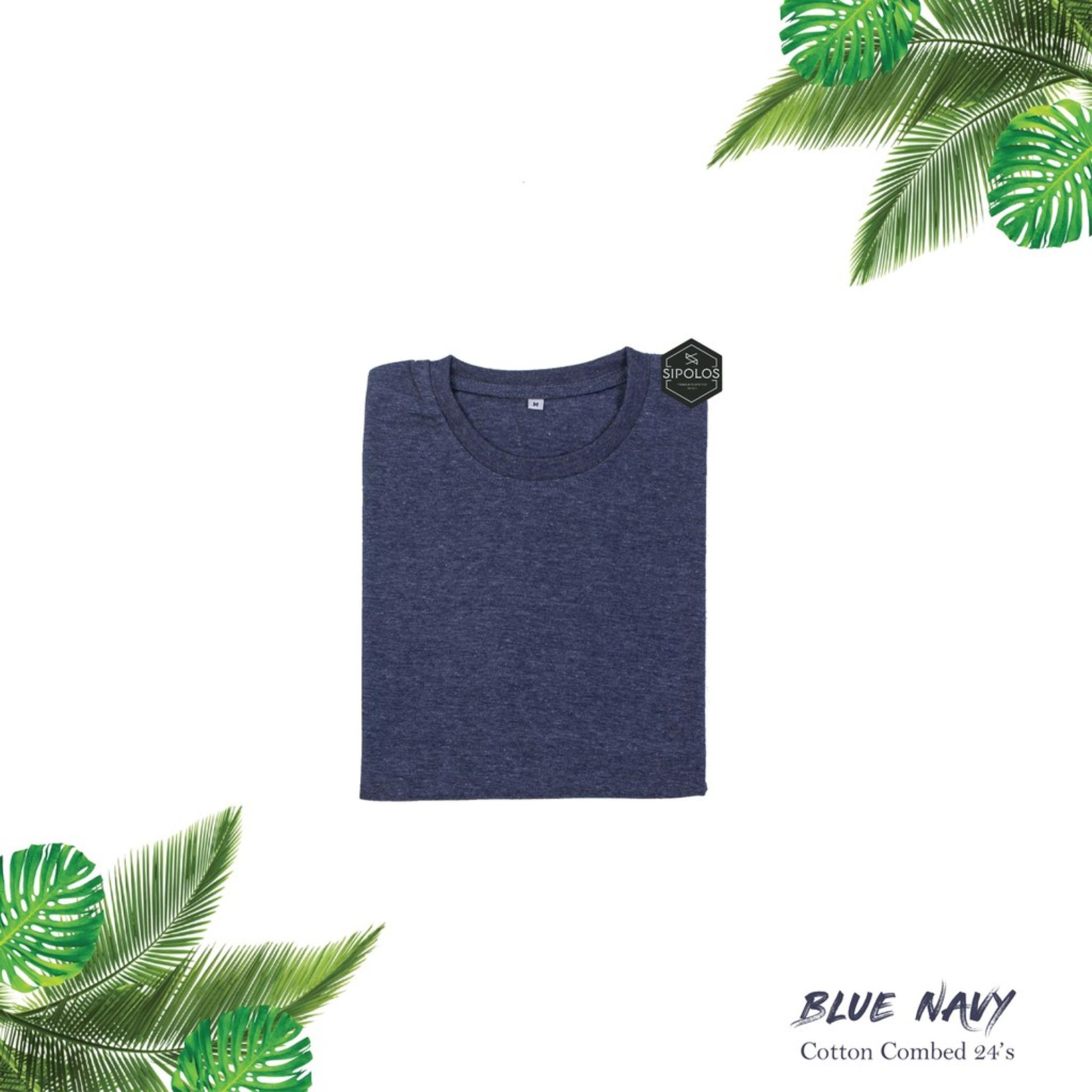 Buy Sell Cheapest Kaos Polos Twotone Best Quality Product Deals Blue Misty Navy T Shirt Casual High