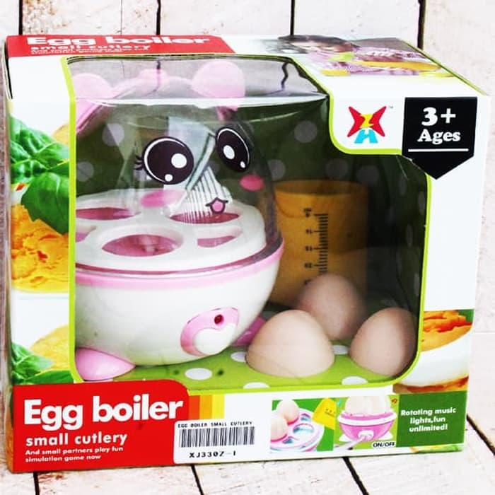 Mainan Anak Cewek - Boiler Egg Small Cultery Penanak Telur Lampu Suara