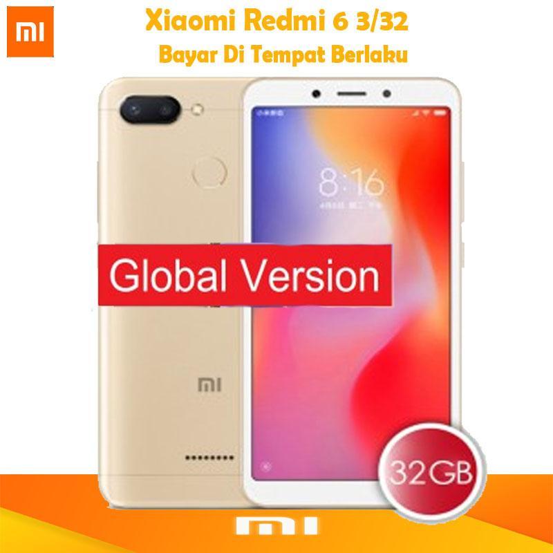 Xiaomi Redmi 6 Global - Ram 3GB/32GB - Garansi DIstributor