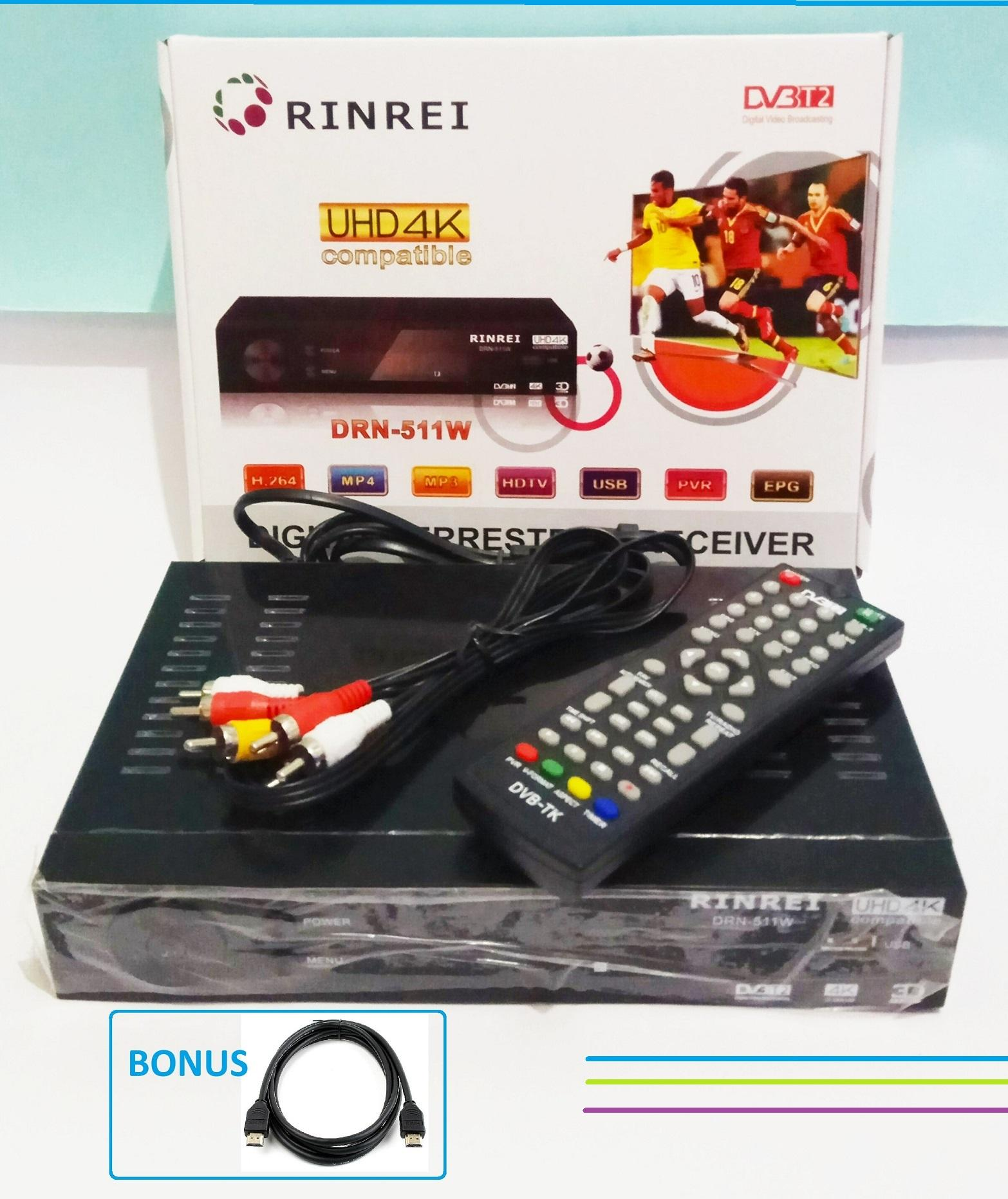 Set Top Box DVB T2 Rinrei DRN 511W UHD 4K STB
