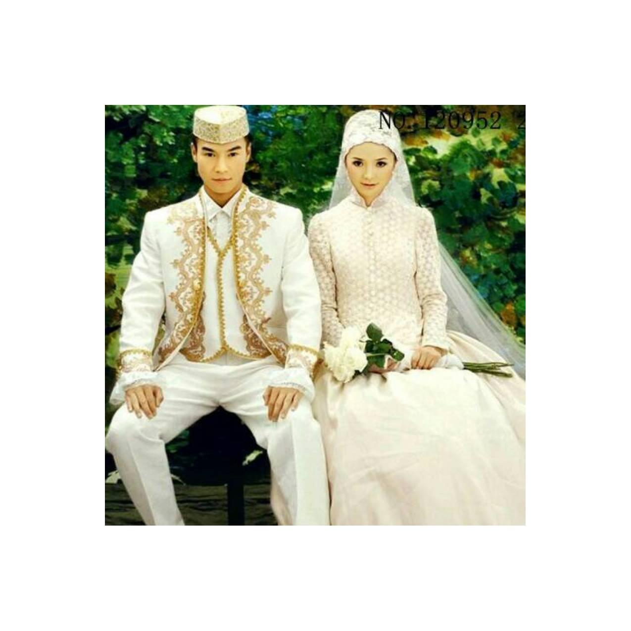 Gaun Pengantin Baju Pengantin Muslim Couple Wedding Dress CB-GT 120952