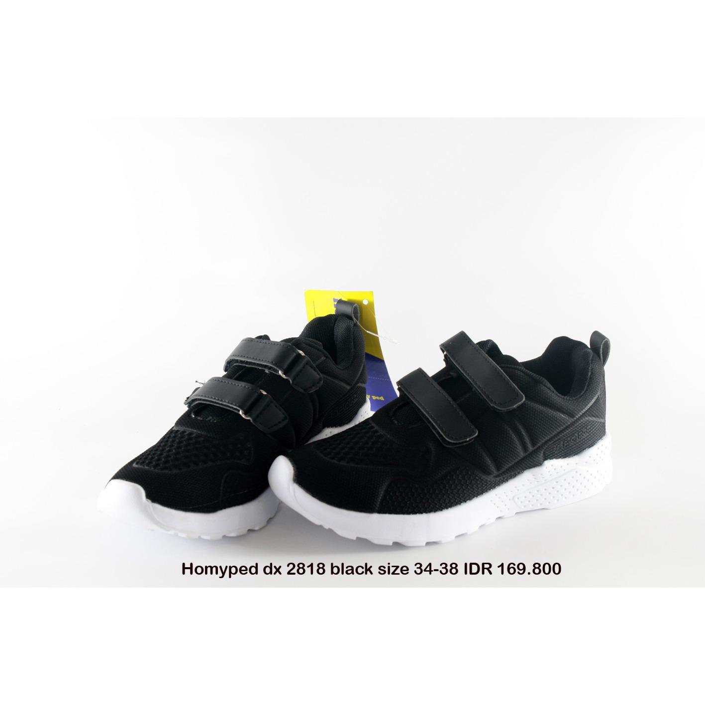 homyped dx 2818 sepatu kets anak laki hitam