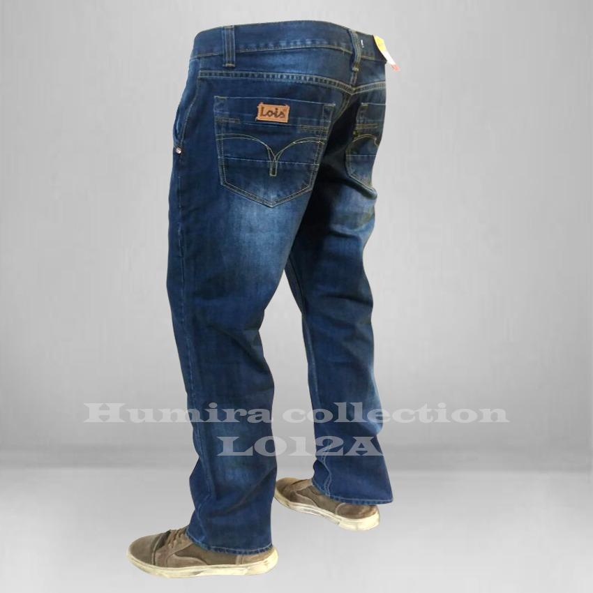 Celana Panjang Pria - Lois Reguler/Celana Jeans Pria Lois - Biru Wash - Best Seller