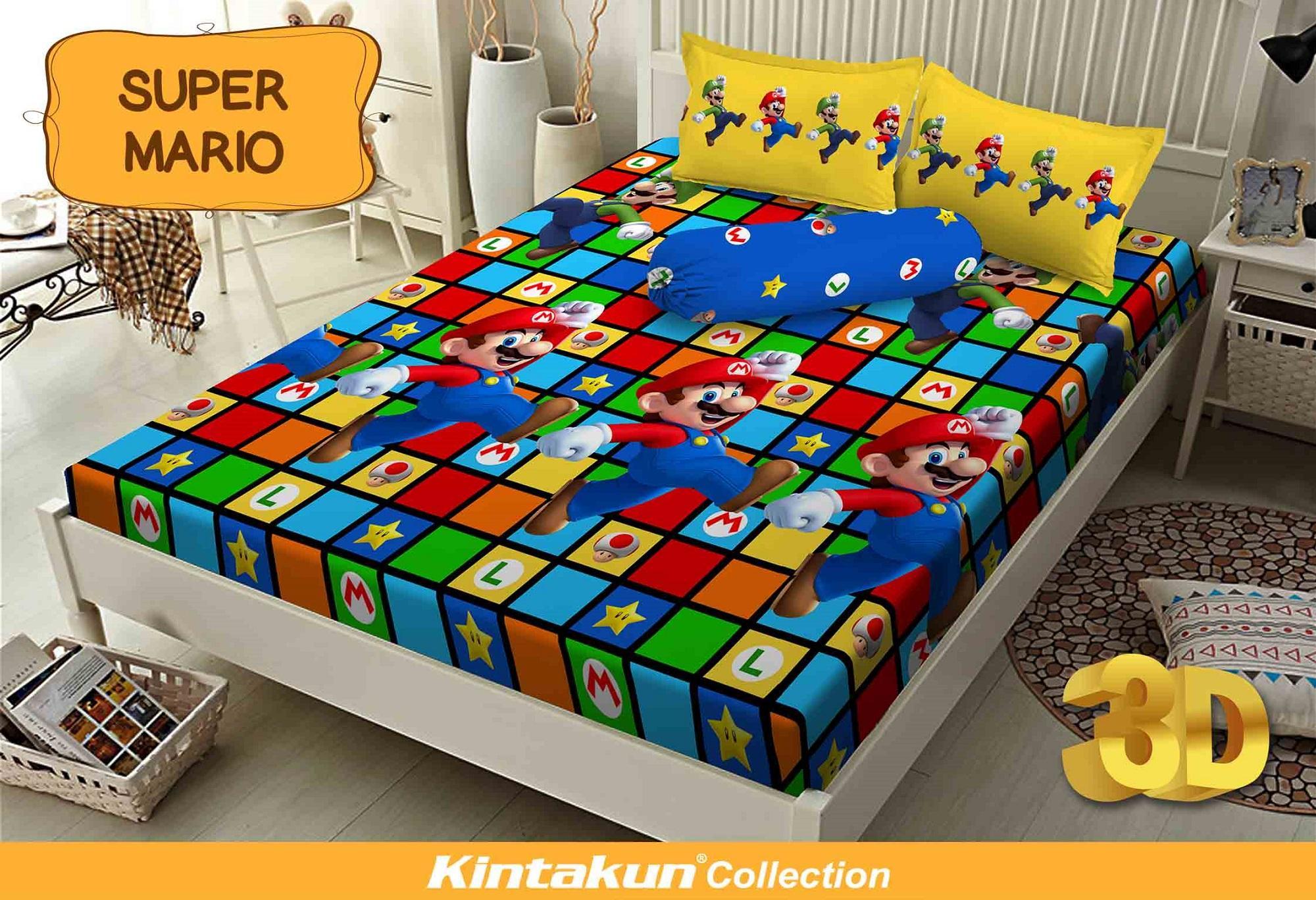 Sprei Bed Cover Kintakun Terbaru Dluxe 160 X 200 B2 Queen Manchester United 180x200cm Super Mario