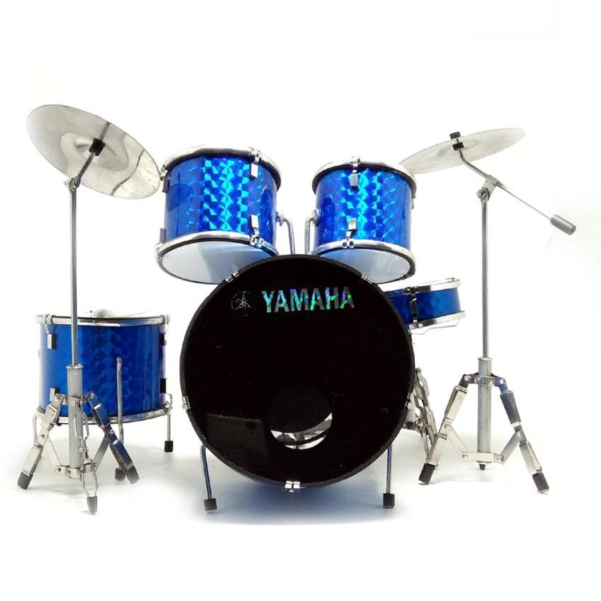 Miniatur Drum Set Gnl Drum M-001 Biru