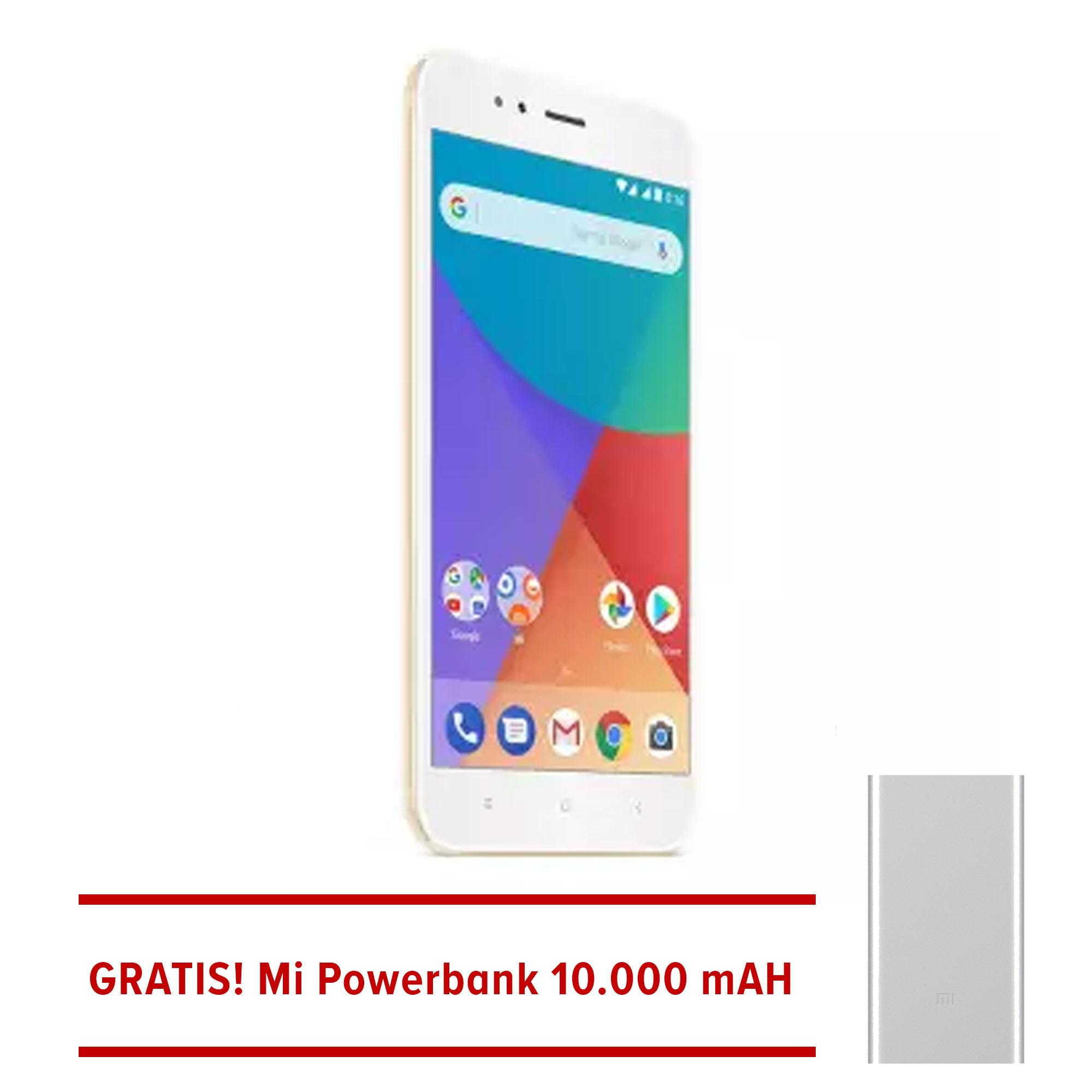 Xiaomi Mi A1 64GB - Gold - Snapdragon 625 + Powerbank 10000mAH