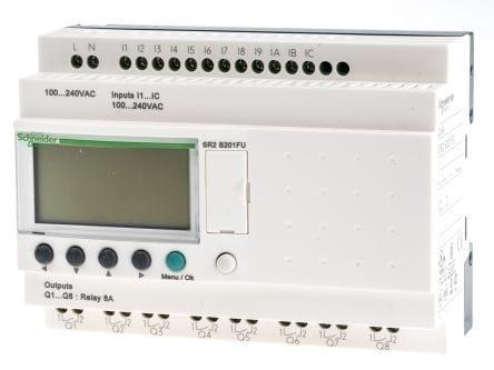 Promo  PLC mini / Zelio Logic - 20 I/O - 100..240V AC - SR2B201FU Schneider  Original