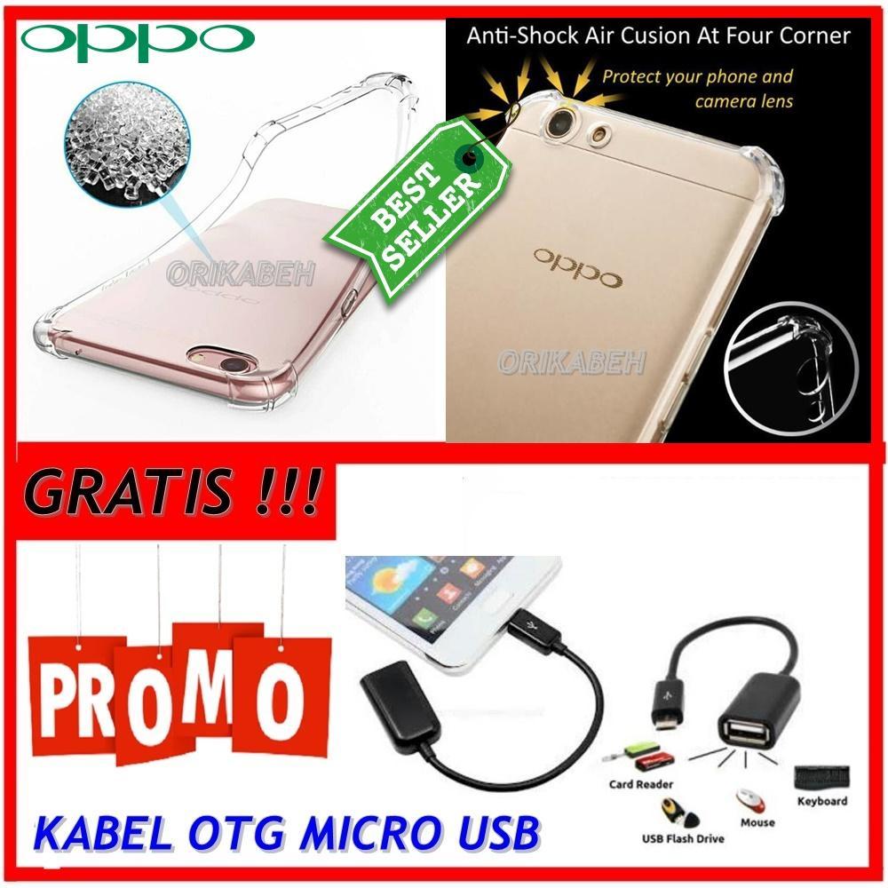Back Case Soft Jacket / Anti Crack Oppo F1S / A59 - Bahan Lebih Bagus + Gratis Kabel Otg Micro Usb  ( orikabeh )