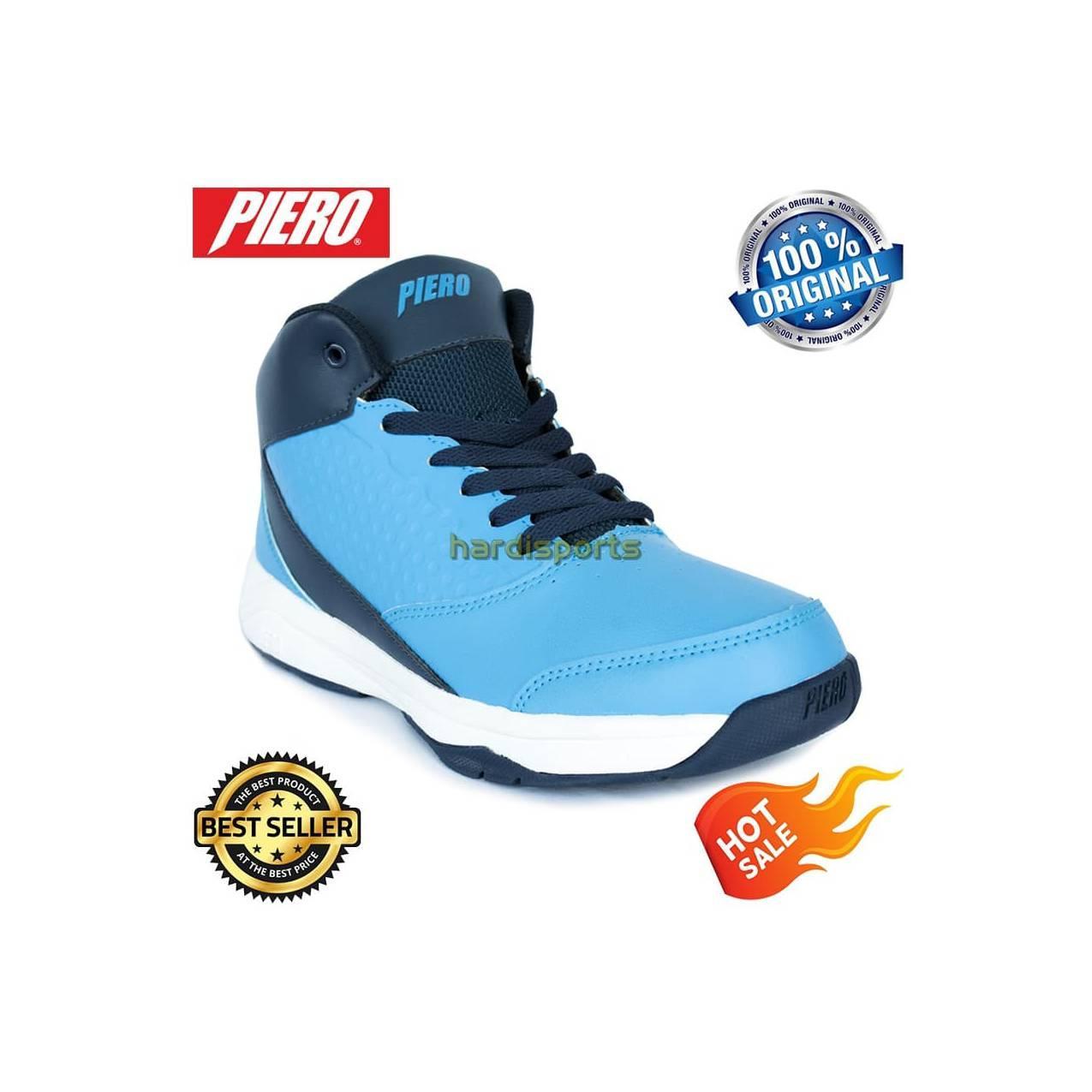 Sepatu Basket Pria Piero Zagato P60141 - Blue White - Biru, 41