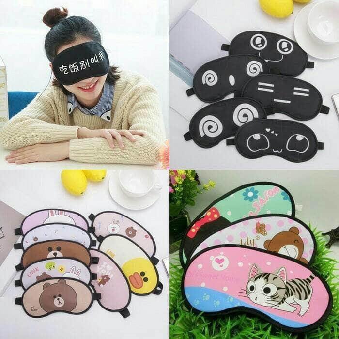 Fashion Karakter Masker Penutup Mata Tidur + Gel Dingin-HCC