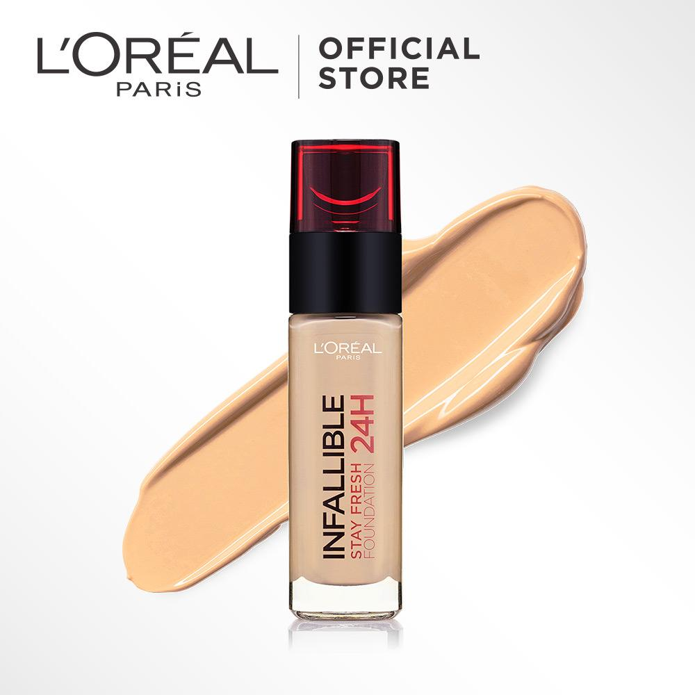 L'Oreal Paris Infallible 24h Stay Fresh Liquid Foundation - 115 Nude Beige by L'Oreal Paris Makeup |  Loreal Foundation  Cair  Matte For Normal to Oily Skin / Kulit Berminyak Long Lasting Tahan Lama