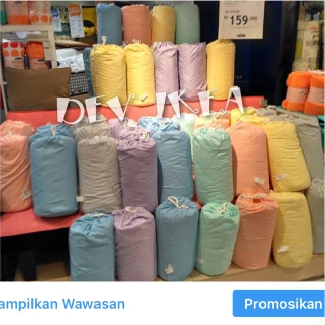Bed cover marsmelow informa Variasi Biru
