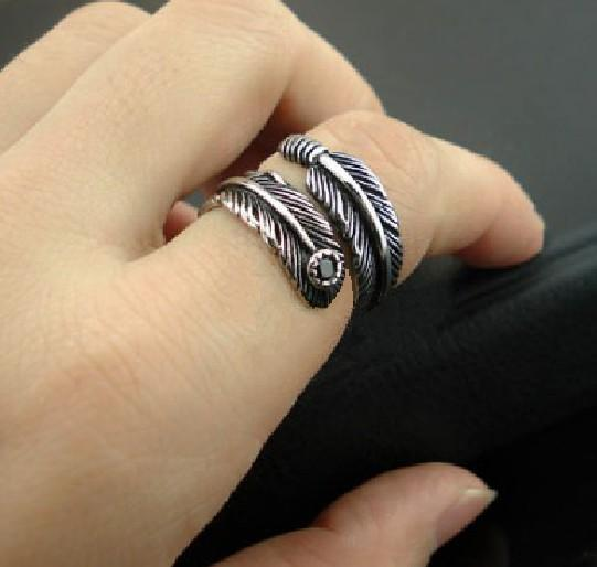NEW Promo Perhiasan Cincin Pria Wanita Pasangan Couple Leaf Titanium 316L Stainless Steel Murah
