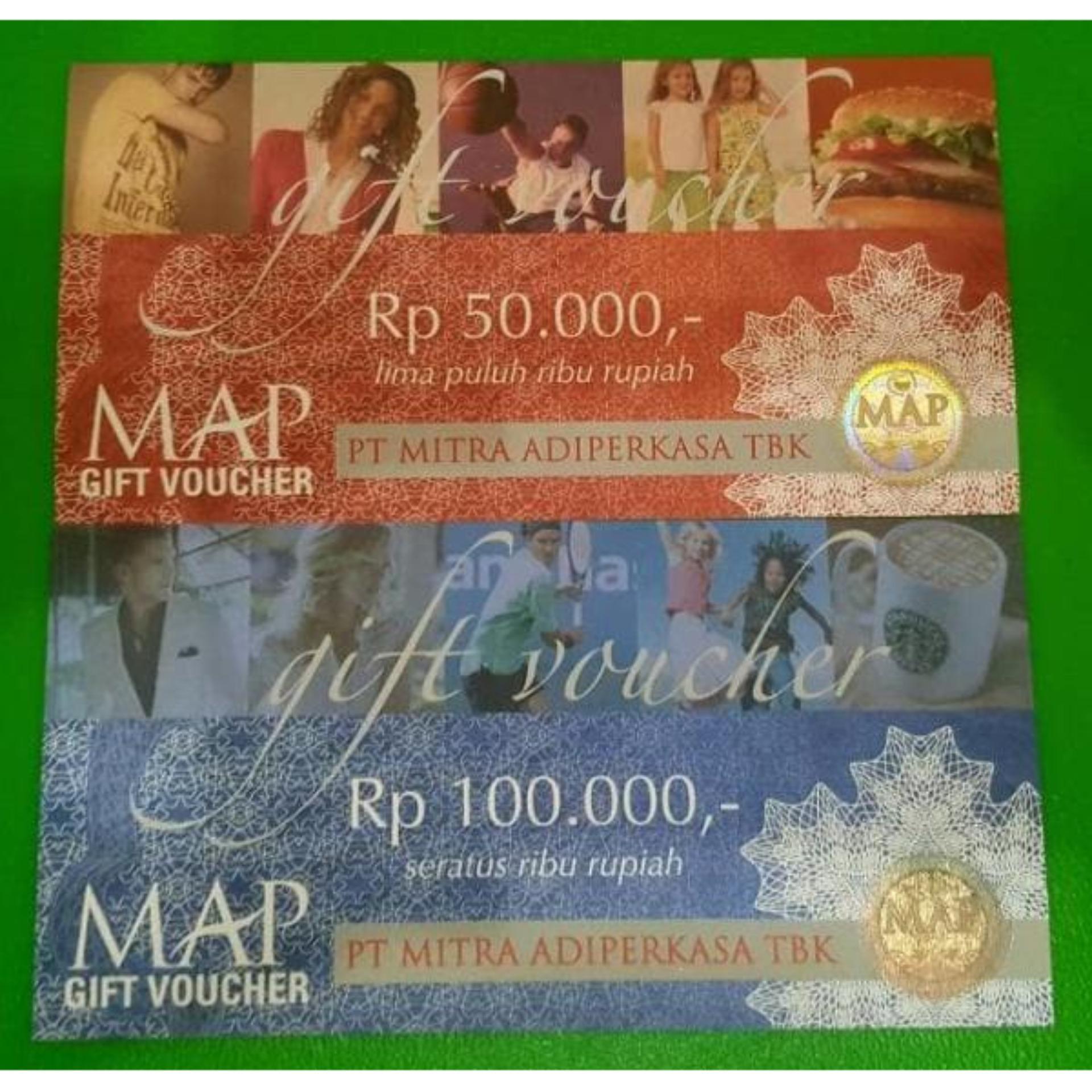 Voucher Gift Card Map Belanja Shopping No Expired 50 Ribu Nominal 1jt
