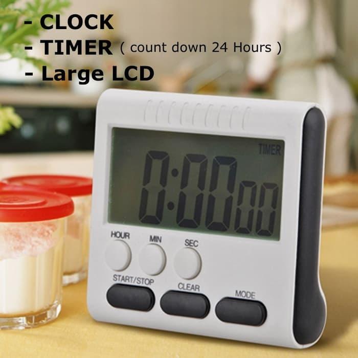 HARGA SPESIAL!!! Digital Timer Alarm (Jam/menit /detik) - Kopi - Dapur - Masak - TlXTUI