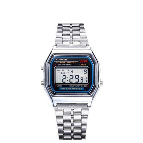 Jam Tangan Pria   Wanita Casio Digital Watch Jam Tangan Unisex- Staienles  Stell Strap d1c155de88
