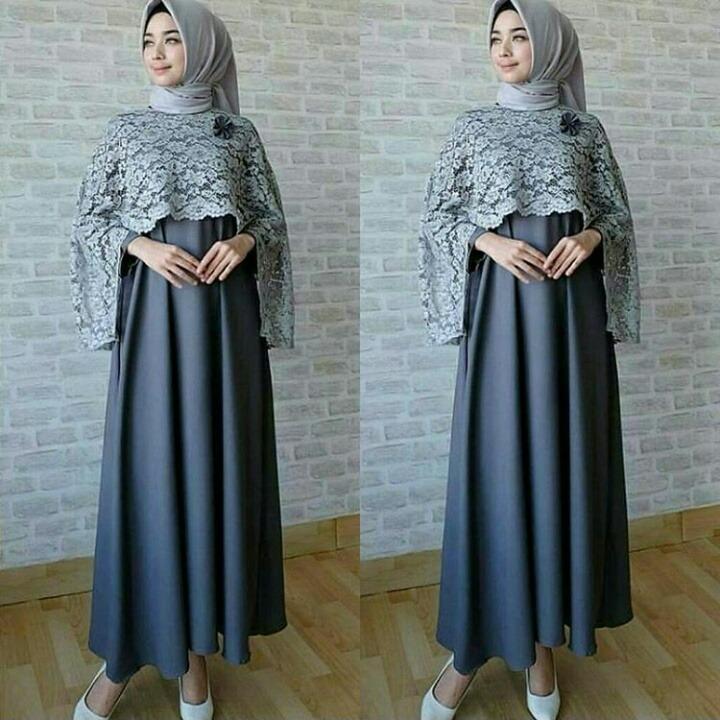 baju gamis cape murah ISKA CAPE dress muslimah bandung
