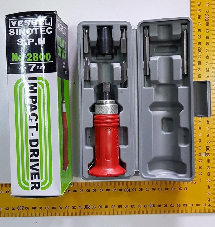 Vessel Obeng Ketok Impact Driver Set 7 Pcs no 2800