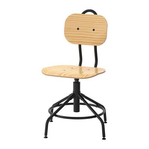 PROMO!! IKEA KULLABERG Kursi putar, kayu pinus, hitam MURAH /  BUBBLE 3 LAPIS / ORIGINAL / IKEA ORIGINAL