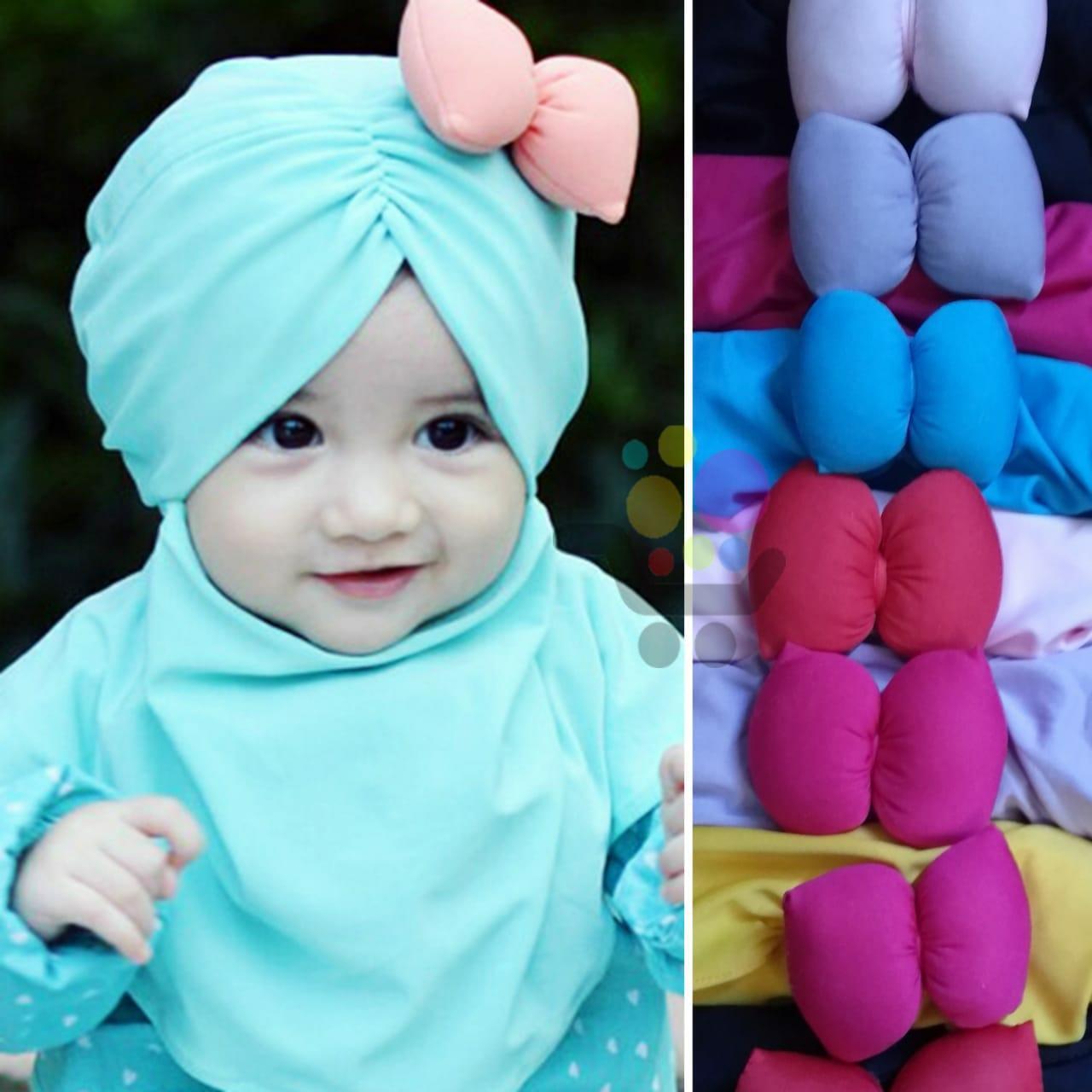 Kerudung Anak Bayi pita samping Jilbab Anak Bayi / Jilbab Bayi / Hijab Pashmina Instan Anak
