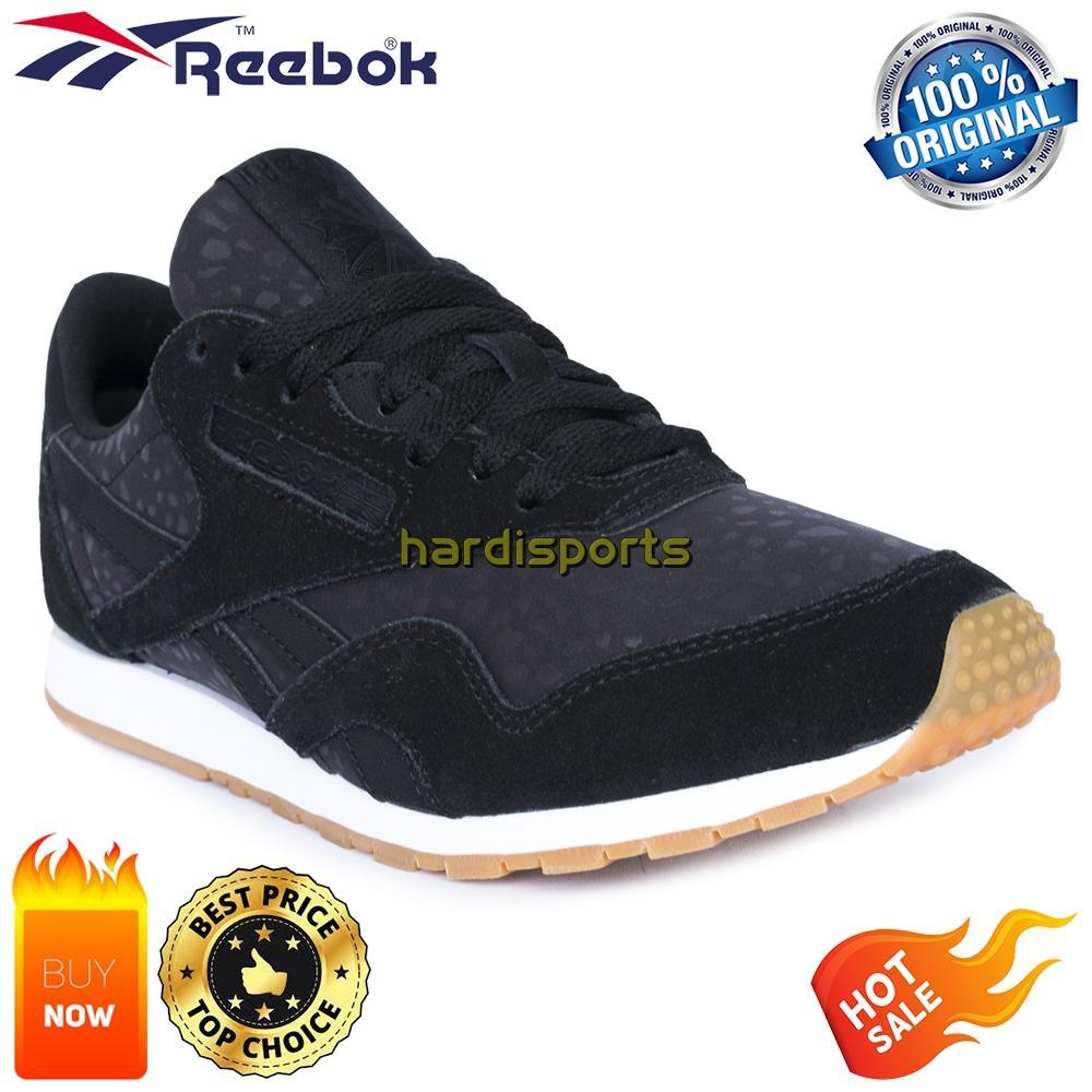 Sepatu Sneaker Wanita Reebok CL Nylon Slim TXT Lux BS9448 - Black 4f6d116359