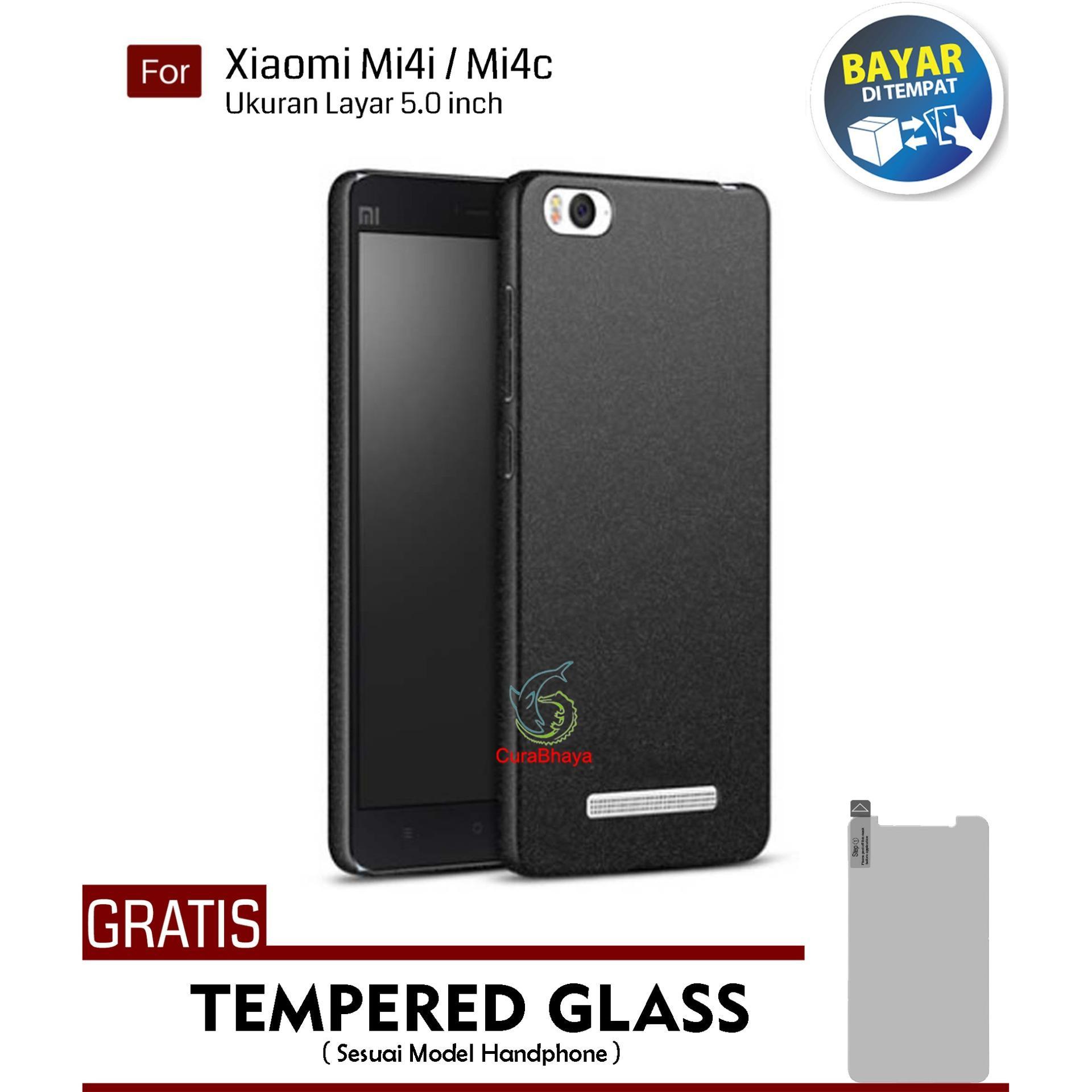 MidNight Xiaomi Mi 4i / Mi4c / Mi 4i / Mi 4c | Slim Case Black Matte Softcase Premium Baby Skin + Gratis Free Tempered Glass Screen Protector