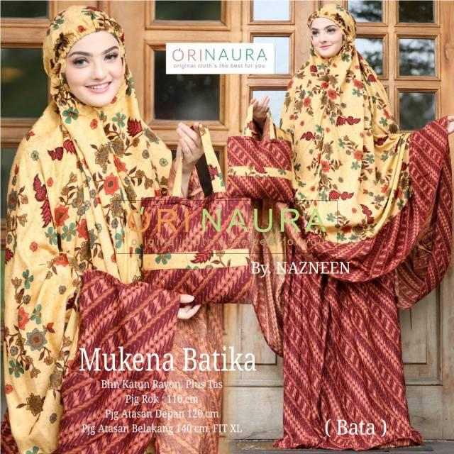 MUKENA DEWASA JUMBO batika mukena katun rayon motif batik mukena murah grosir jumbo by ORI NAURA (bata)