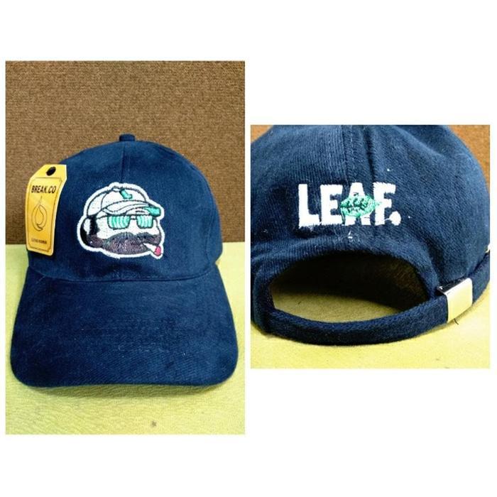 Topi Baseball Pria Wanita Distro Leaf Face smoking bordir   topi pria leaf  original 7cf60300c4