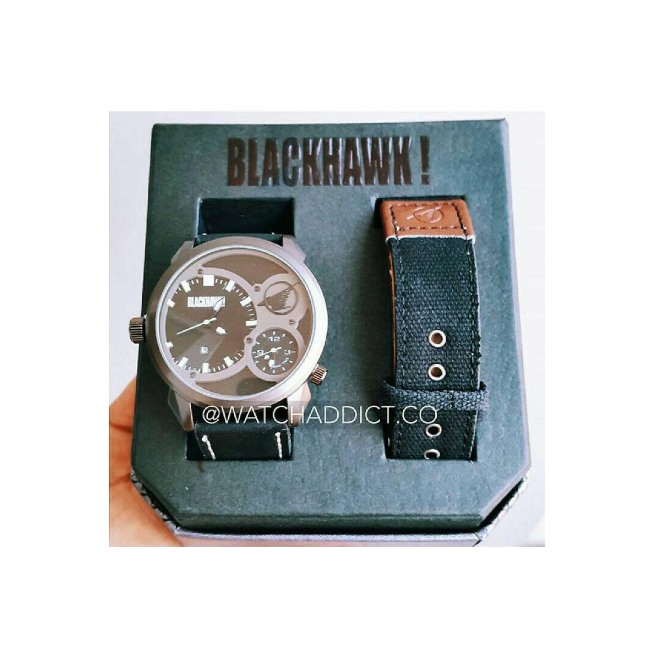 Jam Tangan Pria / Cowok & Wanita / Cewek BlackHawk