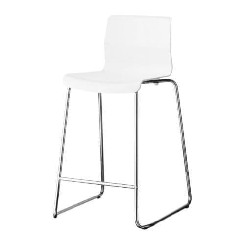 PROMO!! IKEA GLENN Kursi bar, putih, dilapisi krom, 66 cm MURAH /  BUBBLE 3 LAPIS / ORIGINAL / IKEA ORIGINAL