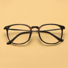 Baur bingkai kacamata wanita tr90 Gaya Korea pasang Retro bingkai besar kacamata  minus baja Sangat Ringan 77f8c107da