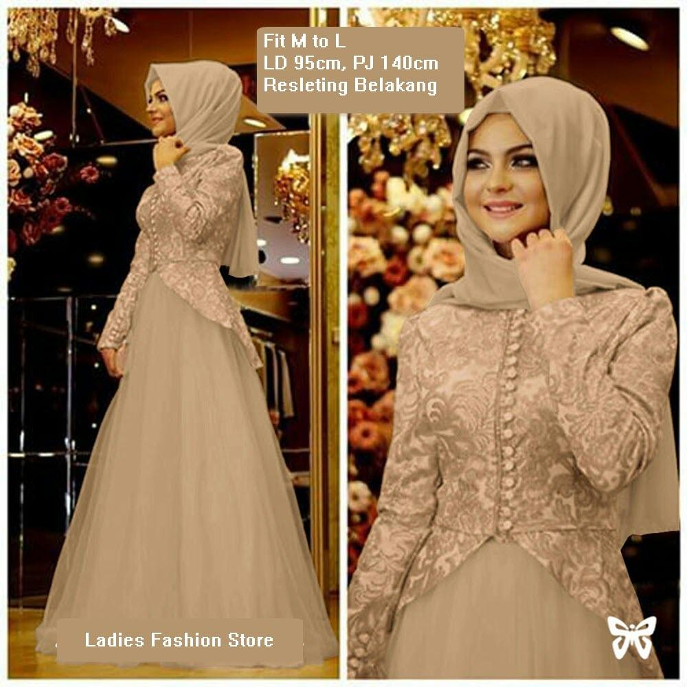 Dress Muslimah Panjang Gaun Gamis Modern Dress Gamis Wanita Murah Gamis Syari Baju Muslim Model Terbaru Dress Pesta Pernikahan Muslimah