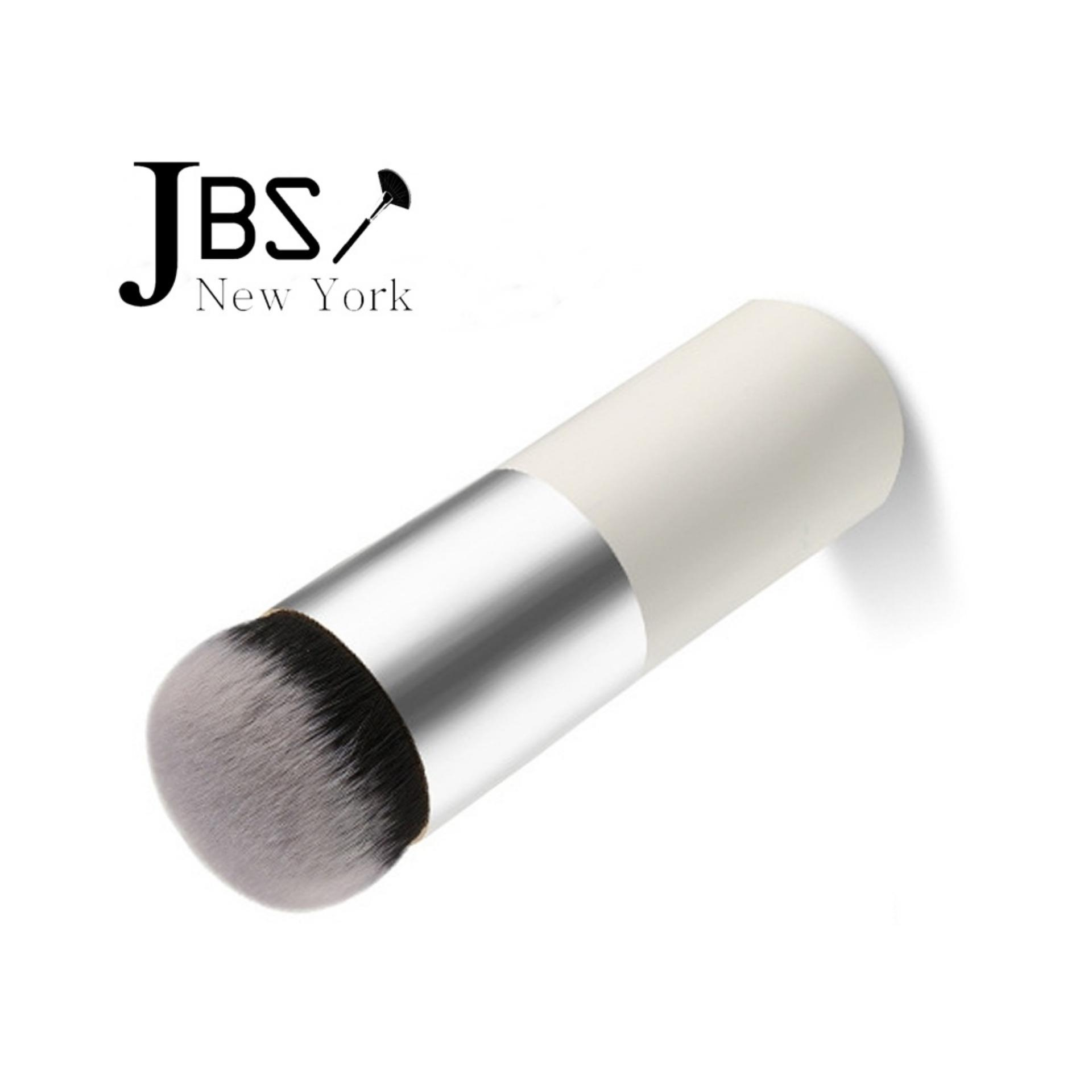 JBS New York makeup brush  / Kuas Make Up chuby pier silver / Kuas Foundation bedak tabur bagian atas datar kosmetik Makeup Brush / K - 019