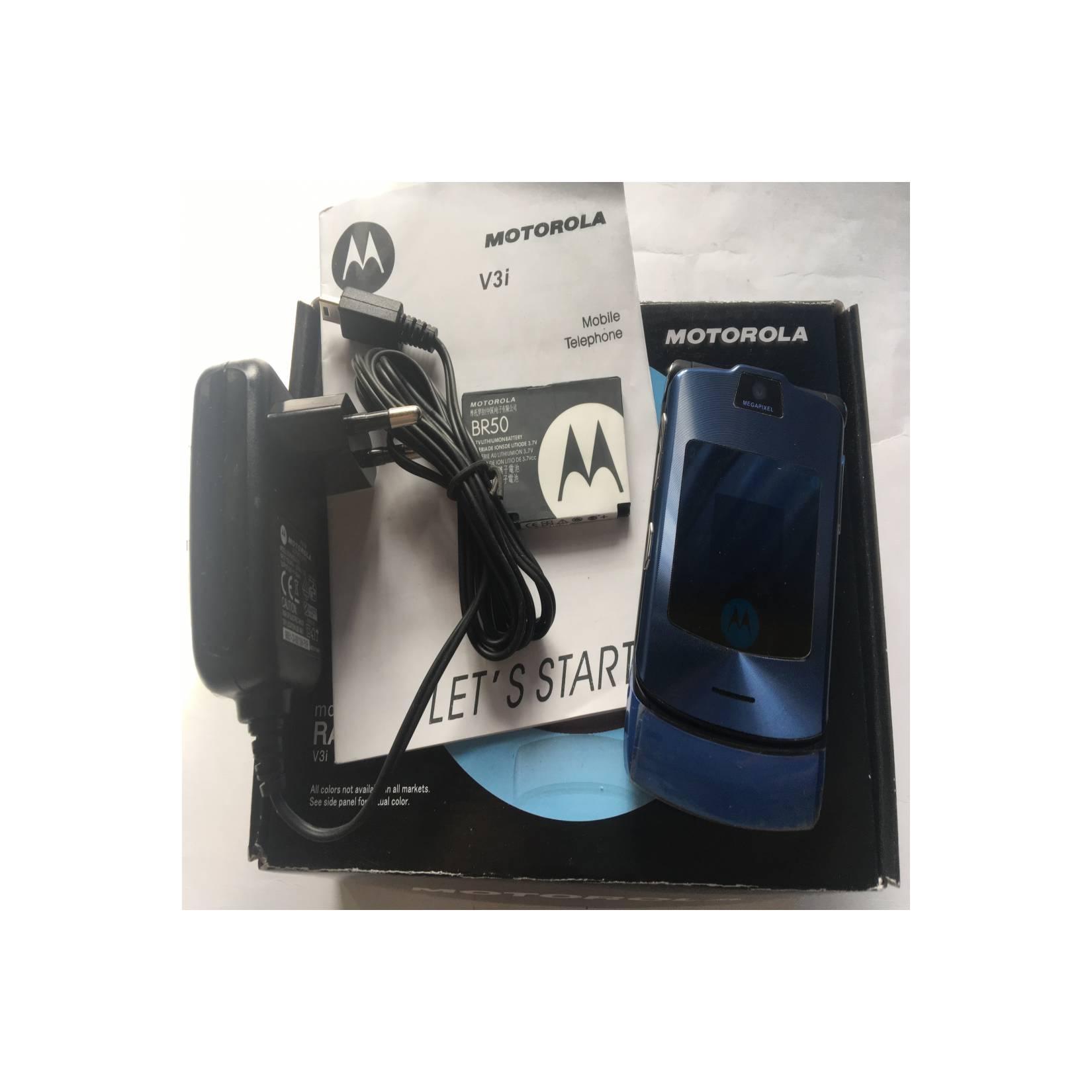 Motorola RAZR V3i Dark Blue - HP Jadul Original