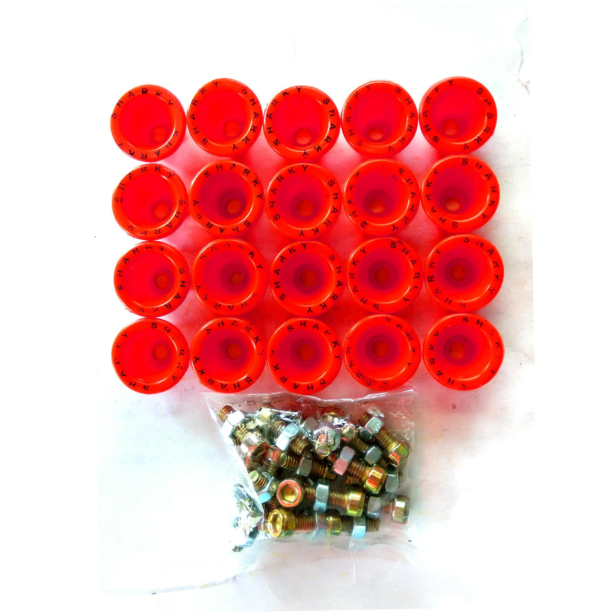Spesifikasi dari Ring Monel SHARKY Isi 20Pcs Bahan Plastik + Mur Baut - Variasi Motor - Merah
