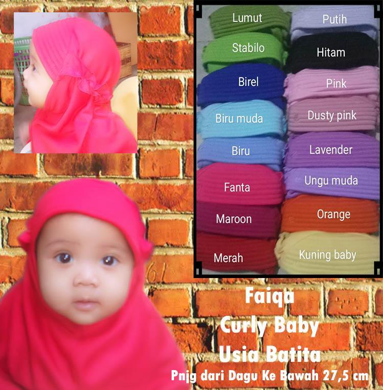 Jilbab anak vania FAIQA BABY/ Jilbab batita Vania / jilbab bayi murah /vania curly baby