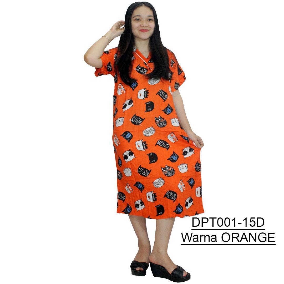 Daster Batik, Daster Lengan Pendek, Baju Tidur, Piyama, Leher Kancing, Daster Bumil, Busui (DPT001-15) Batikalhadi Online