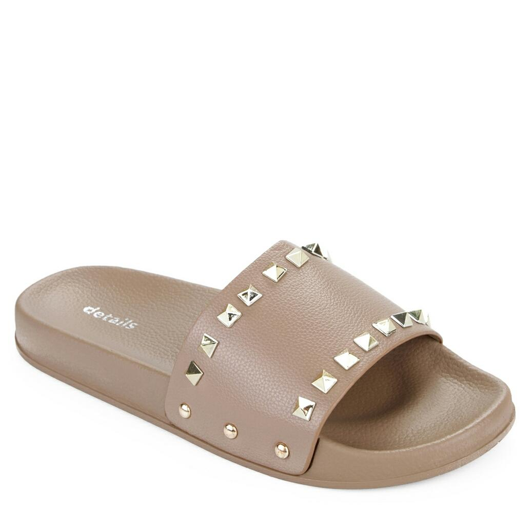 Details Sandal Wanita Wide Ban Gold Plated Beads - cokelat