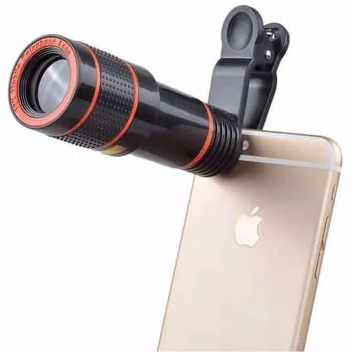 Lensa Telezoom 12x Tele Optical Zoom Jepit Clip lensa HP Smartphone