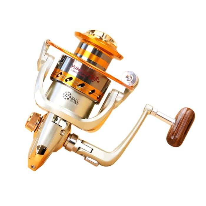 HARGA SPESIAL!!! Yumoshi EF6000 Metal Fishing Spinning Reel 12 Ball Bearing - DYB4Gk