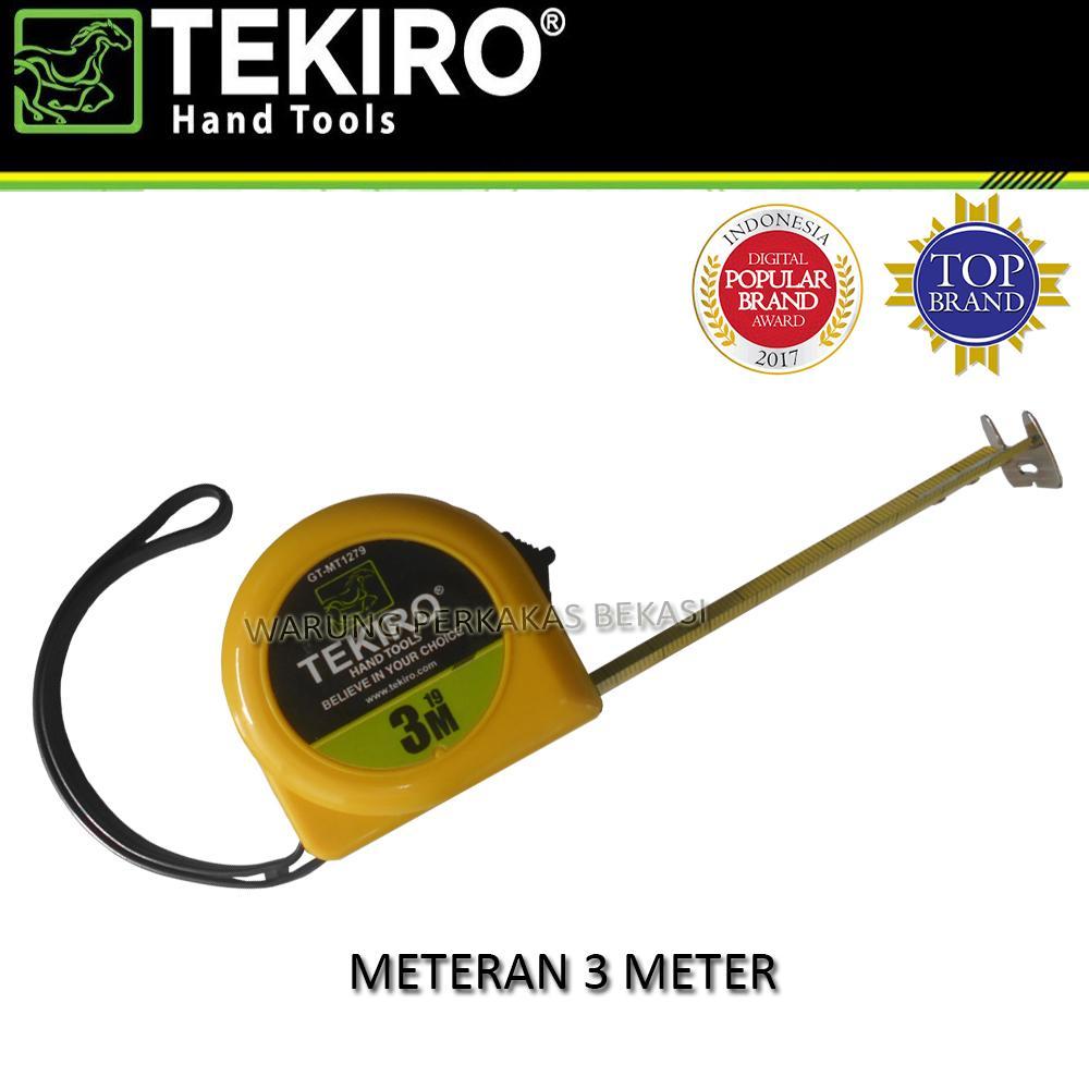 Tekiro Measurement Tape 5 M Meteran Daftar Harga Terkini Meter Tangan Tukang Dengan Angka Bolak Balik 3m X 19mm
