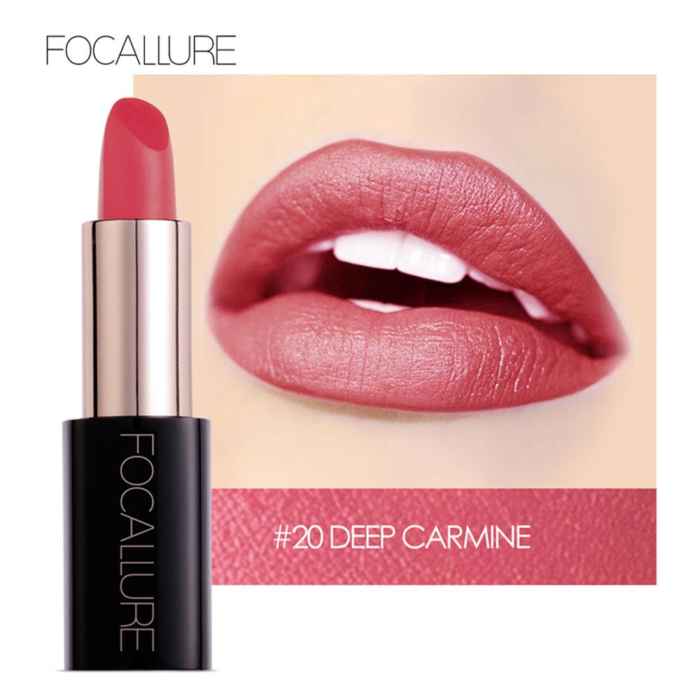 Lipstick Lip Gloss Matte Lipstick Fashion 20 Color Long Lasting FOCALLURE