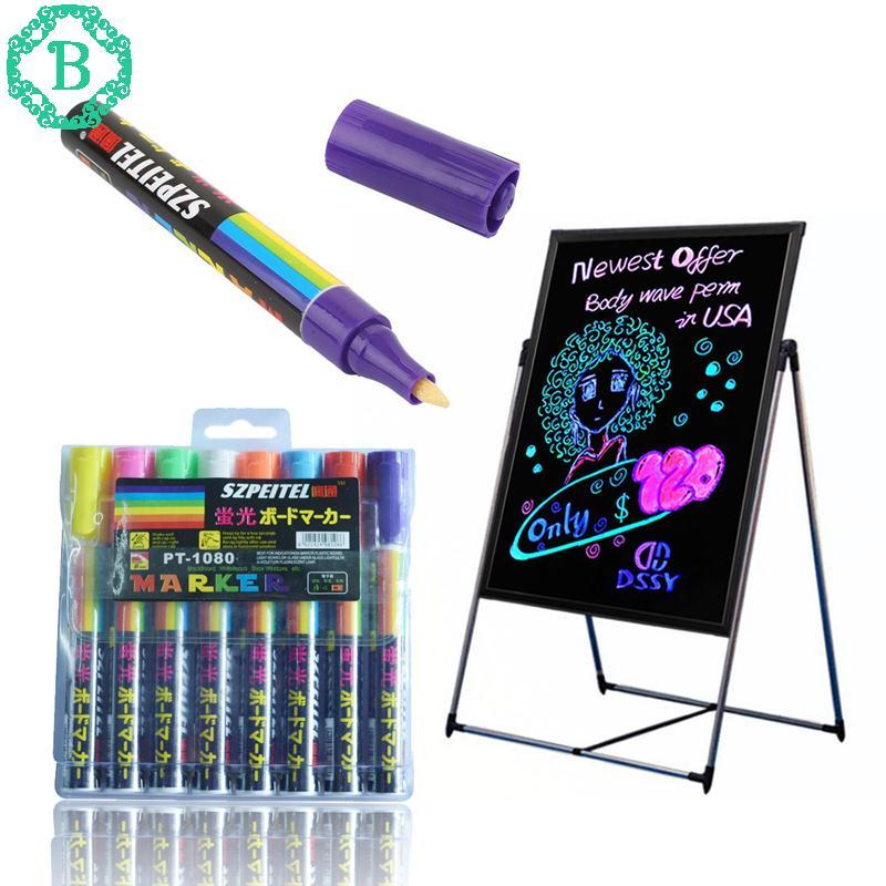 Benediction Highlighter Blackboard Liquid Chalk Colorful 8Pcs/Box Writing Board