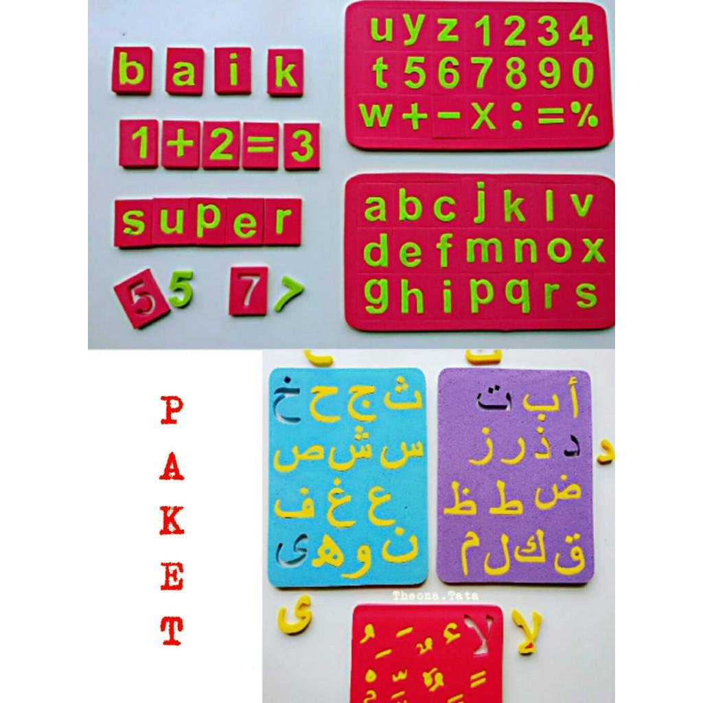 PAKET PUZZLE HURUF HIJAIYAH & ABJAD MINI / Mainan Anak Perempuan / Mainan Anak Laki Laki