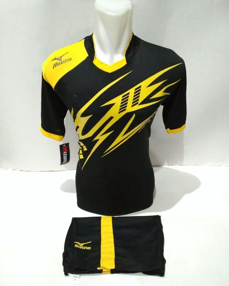 Baju Kaos Olahraga Jersey Bola Setelan Futsal Volley Mz 22 Hitam Kuning