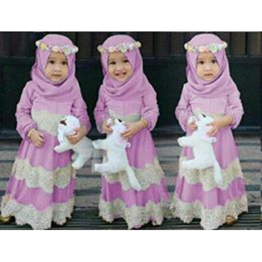 CL-SYARI KID MIRANDA +BERGO  ( 3-5TH) SYARI ANAK PAKAIAN MUSLIM KID ANAK PEREMPUAN  PAKAIAN ANAK2  KID FASHION  FIT TO 3-5TH