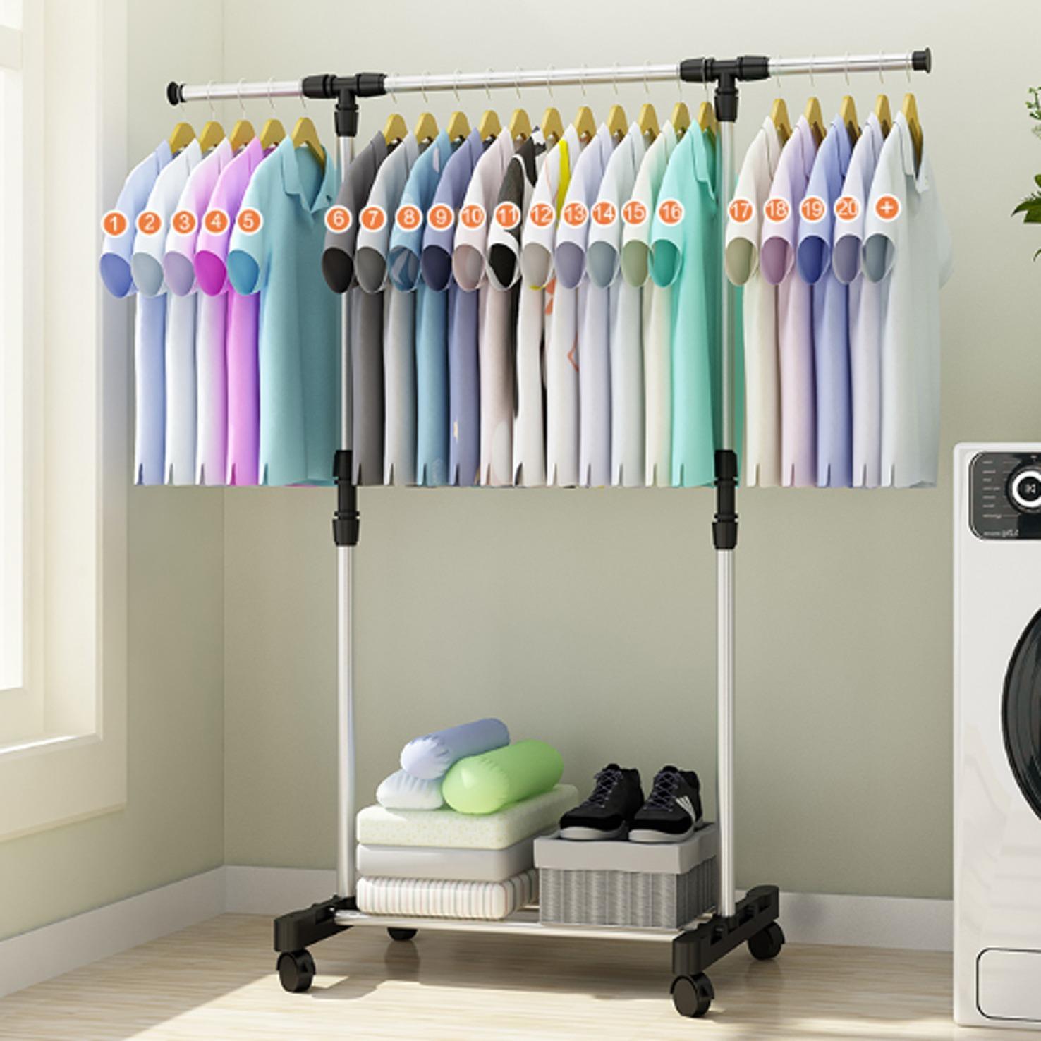 Stand Hanger Single - Rak Serbaguna Dengan 4 Roda